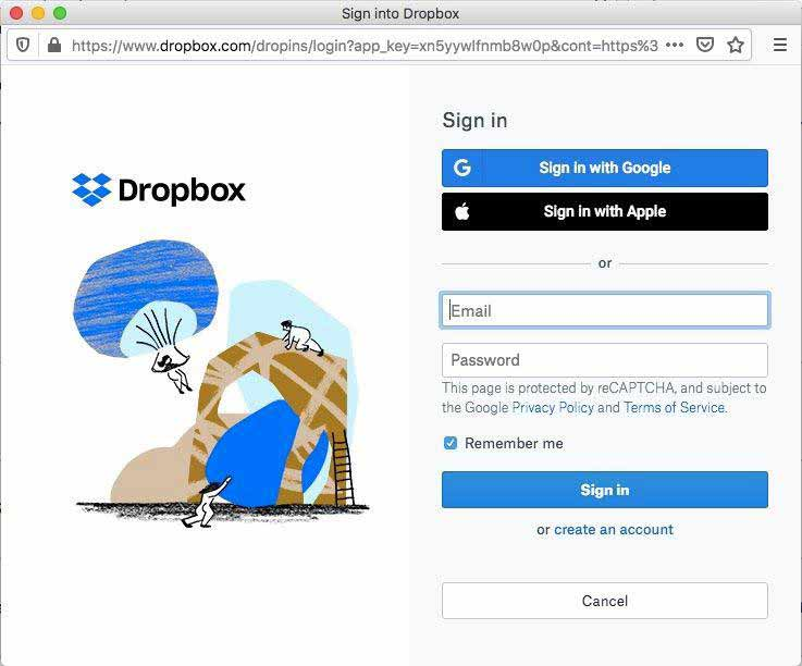 pdfbear-dropbox-login